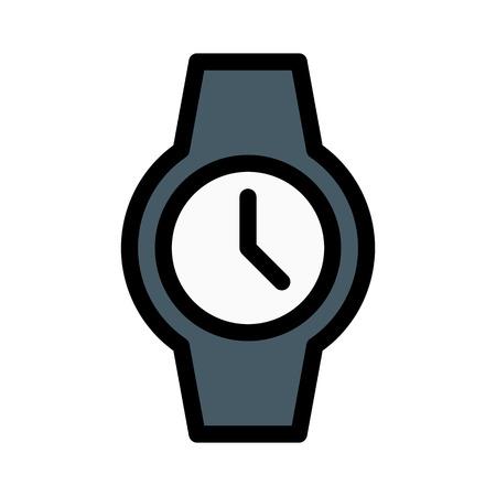 Wrist Watch Round Dial Иллюстрация