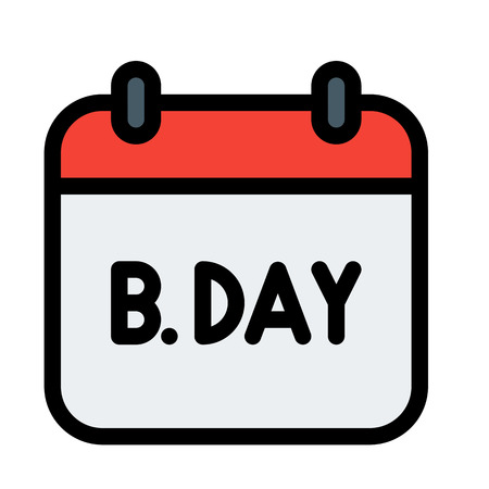 Birthday Calendar event Illustration