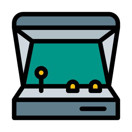 Vintage Arcade Game Console