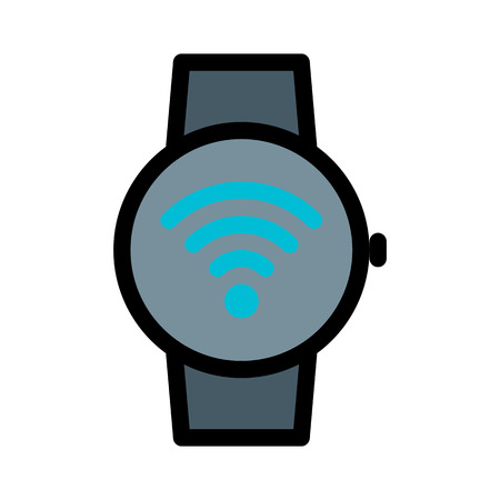 Smartwatch Wifi Connection Illustration
