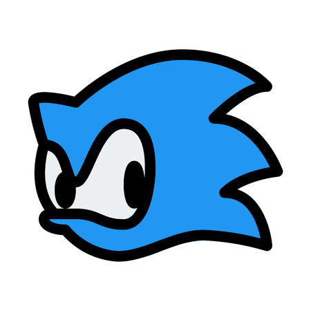 Sonic Game Character Illustration