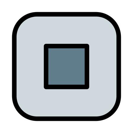 Player Stop button Ilustração