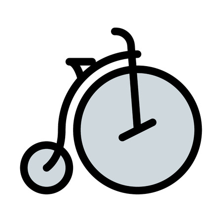 Penny-farthing Vintage Bicycle Illustration
