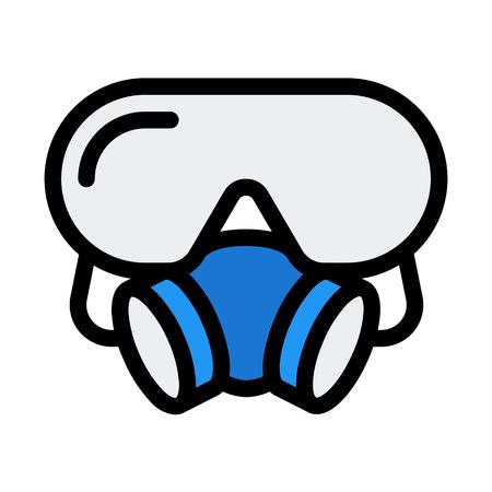 Respirator Protection Mask Ilustração