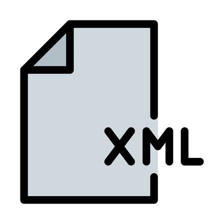 XML Coding File Иллюстрация