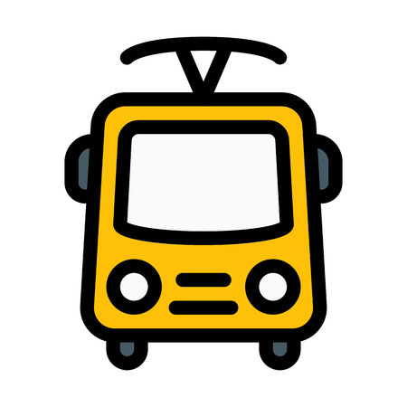 Trolleybus Electric Powered Stock Vector - 125713614