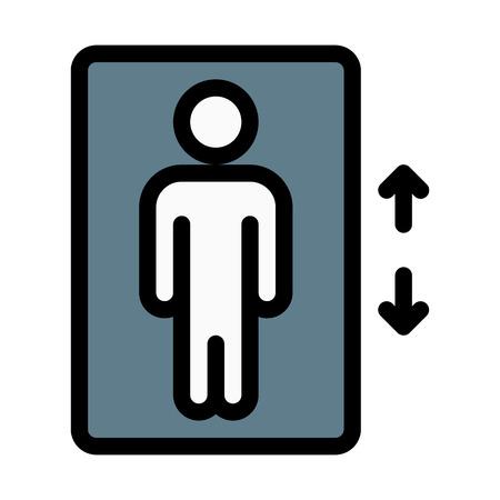 Signe d'ascenseur de bâtiment Vecteurs