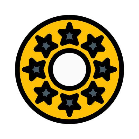 Star Jeans Button Иллюстрация