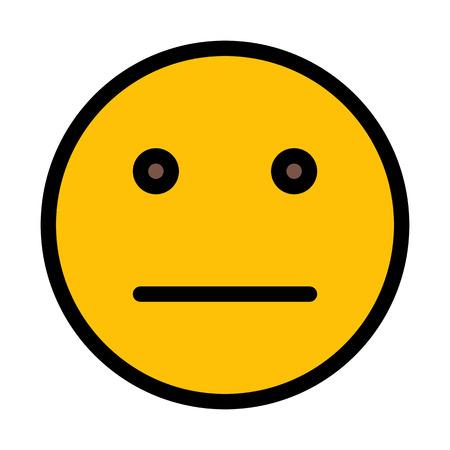 Strait Expression Emoji Reklamní fotografie - 116216989