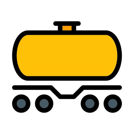 Tank car - wagon Vector Illustration