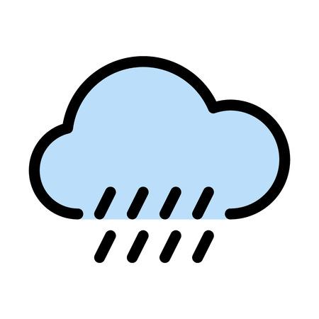 Cloudy weather raining