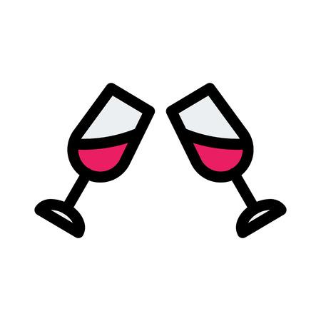 celebration glasses toast