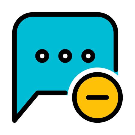 Message Remove or Delete Stock Illustratie