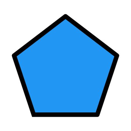 Pentagon Geometric Shape Ilustrace