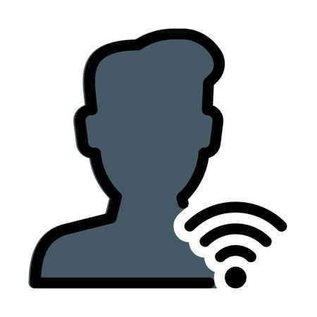 User Wifi Signals Ilustrace