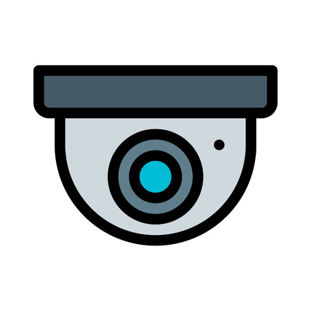 Dome Security Camera Vector Illustration