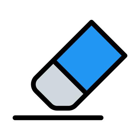 Botón de la herramienta Borrador Ilustración de vector