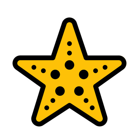 Underwater Oceanic Starfish Ilustração