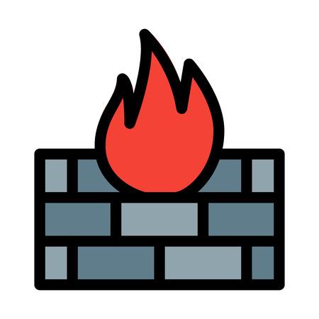 Fire Precuation and Saftey Vektorové ilustrace