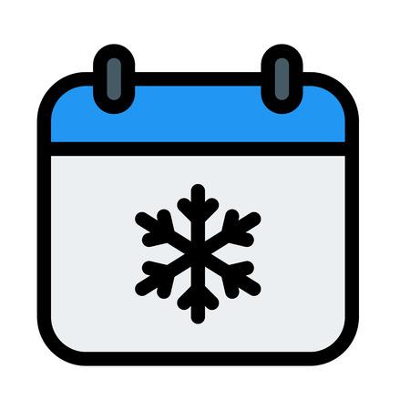 Winter Season Calendar Illustration