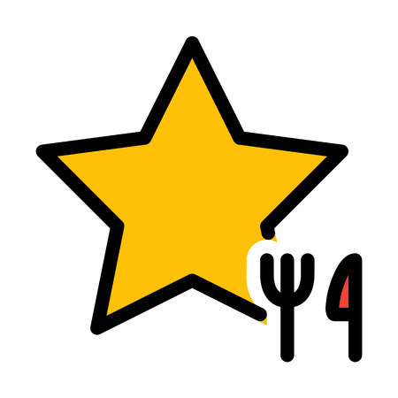 Single Star Restaurant Banque d'images - 125720644