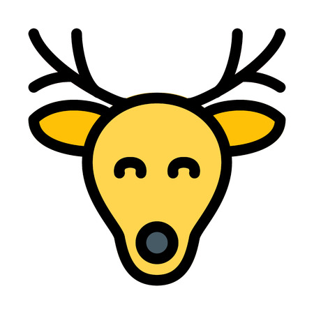 Christmas Reindeer Head