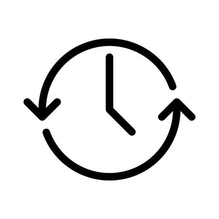 Update Time or Sync Ilustración de vector