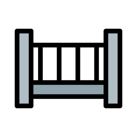 Toddler Sleeping Crib Stock Vector - 125720738