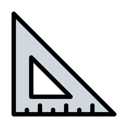 Triangular set square Illustration