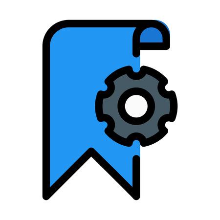 Bookmark Settings Symbol Illusztráció