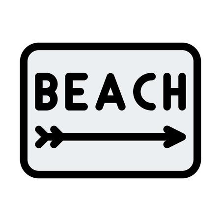 Beach Signboard Direction