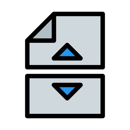 Split or Break File Векторная Иллюстрация