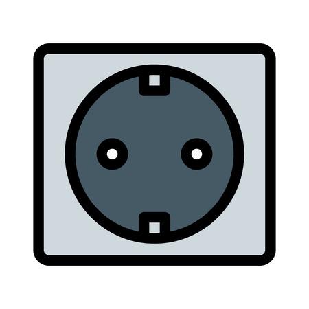 Wall Power Socket Ilustração