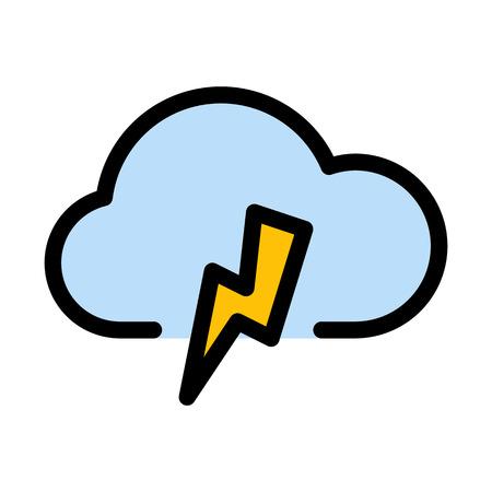 Overcast Lighting strike 矢量图像