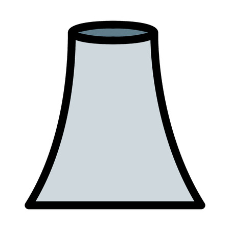 Nuclear Reactor Cooling Tower Illustration