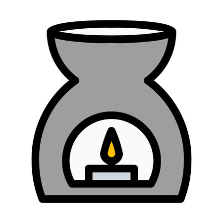 Scented Candle Aromatherapy Illustration
