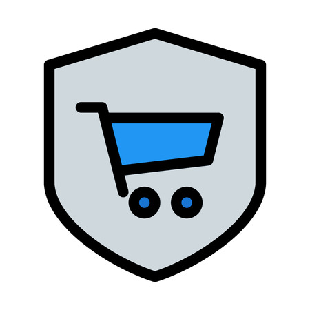 Online Shopping Protection Vectores