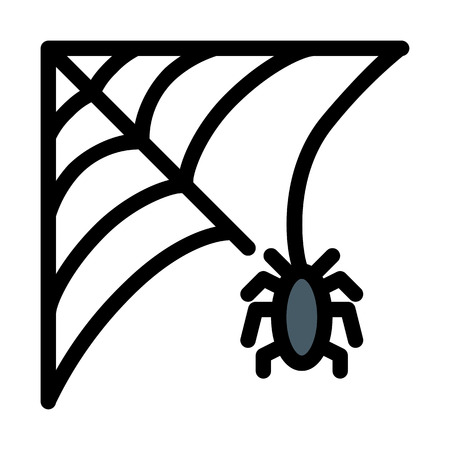 spider web trap Illustration
