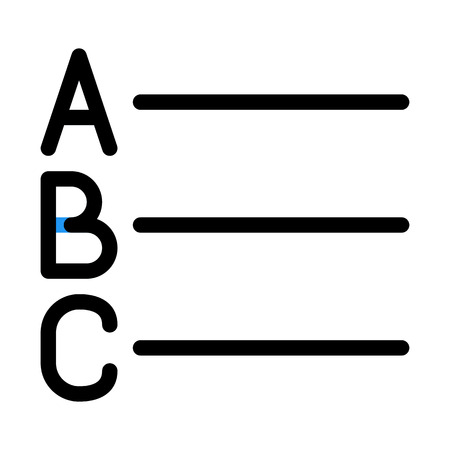 Alphabet List Button