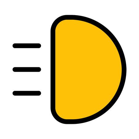 Headlight High Beam Illustration