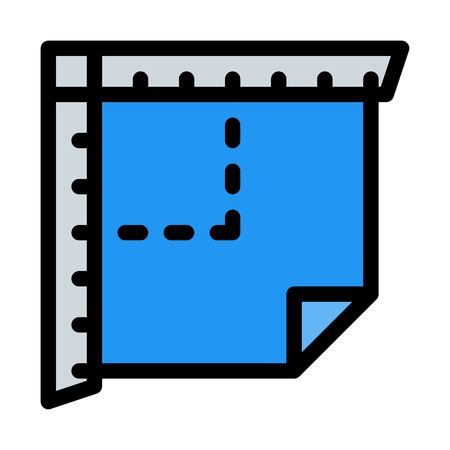Ruler tool - Set square Illustration