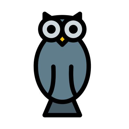 night scary owl Ilustração