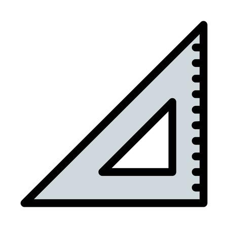 set square or straightedge Illustration
