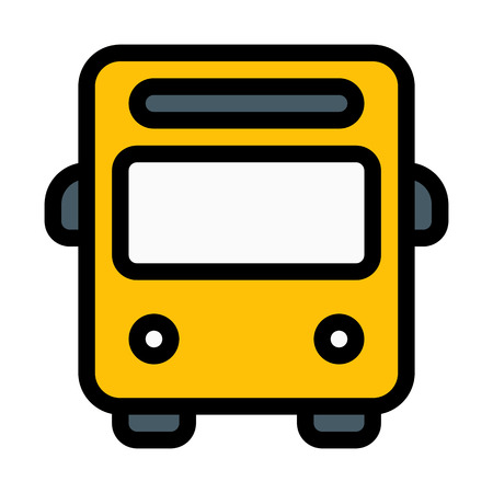 Travel or School Bus Иллюстрация