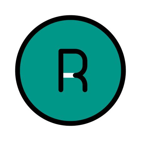 Registered Mark Sign 向量圖像