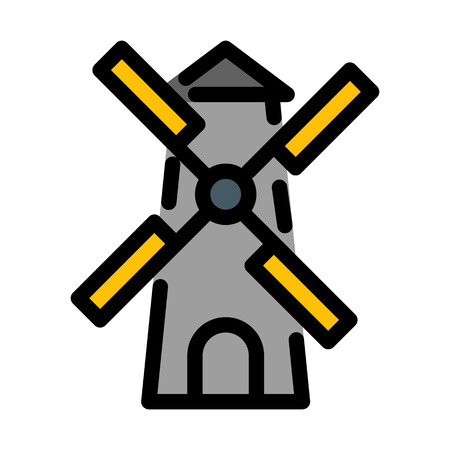 Windmill Turbine Propeller Çizim