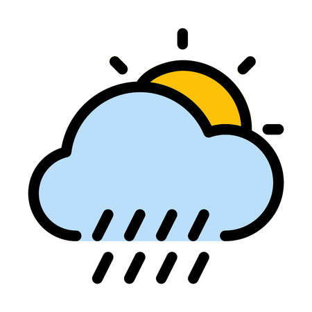 Daytime rainy weather Çizim
