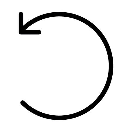 Anticloclwise Open Circle Arrow