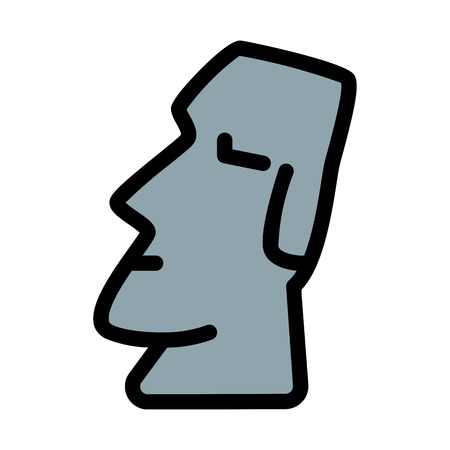 Easter Island Monument Stock Vector - 125721980