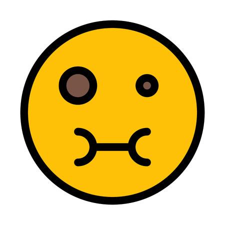 Feeling Sick Emoticon 일러스트